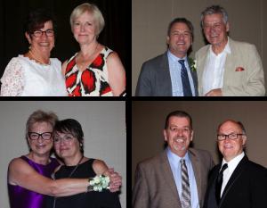 Honorary Life Membership winners Ellen Chambers, Martin Long, Sharron Raymond and Gene Lewis