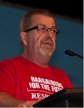 Sam Hammond at 2015 meeting giving closing address